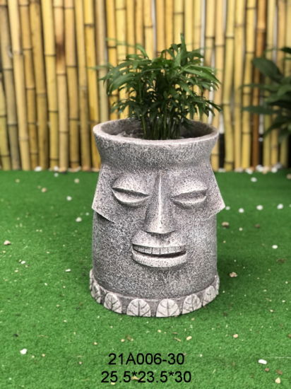 Polyresin Factory Sculpture Wholesale Statue Family Figurines Best Sellers Sculptures Resin Craft Flower Pot & Planter