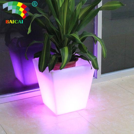 Light up Outdoor LED Flower Pots