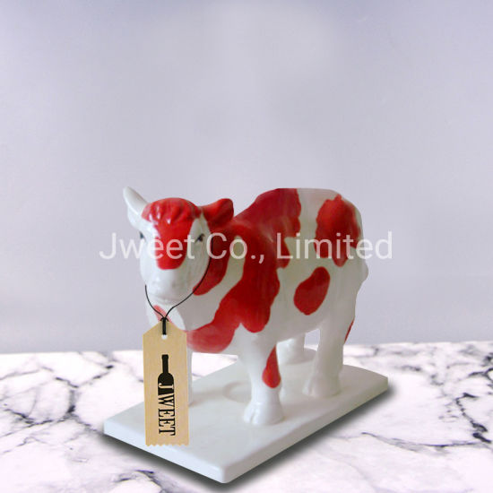Decal Engraving Cow Shape 700ml Spirit Wine Ceramic Bottle