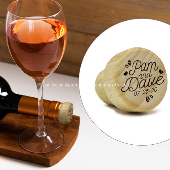 New Design Wooden Wedding Favor Gift Wine Stopper with Engraved Logo