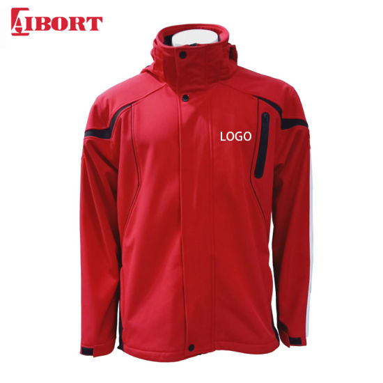 Aibort Custom Logo OEM Waterproof Windproof Softshell Jacket with Hood