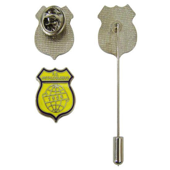 Fashion Promotion Custom Metal Enamel Car Shape Pin Badge Novelty Branded Cheap Metal Enamel Nataonal Double Flag Badgehot Sale Golden Flag Badge (52)