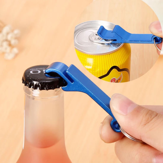 Aluminium Alloy Multifunction Keychains Ring-Pull Can Beer Bottle Opener