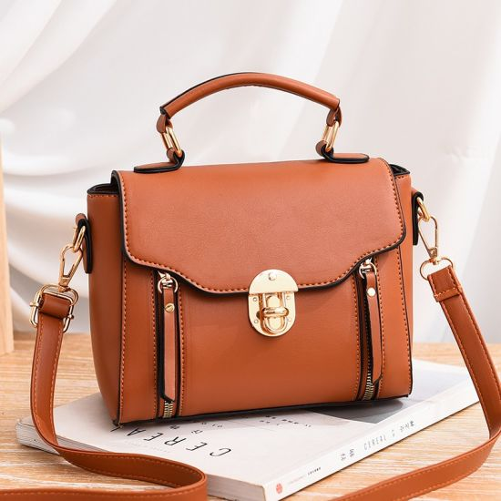 European Fashion New Style PU Cross-Shoulder Large Ladies Handbag PU Leather Lady Handbag for Women