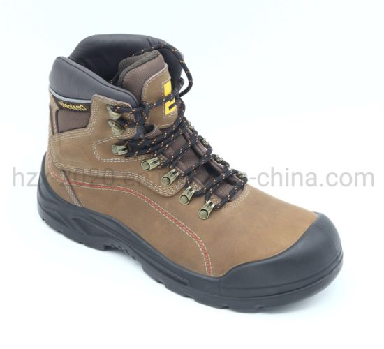 Cow Nubuck Leather Safety Boot Hiking Shoes with Composite Toe Cap Shoe Factory