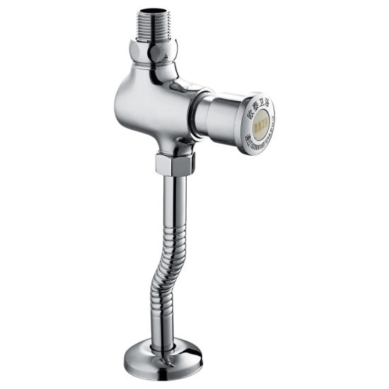 Wall Mounted Bathroom Brass Push Button Toilet Water Flush Valve