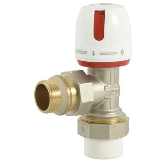 Electric Heating Brass Straight Thermostatic Radiator Valve