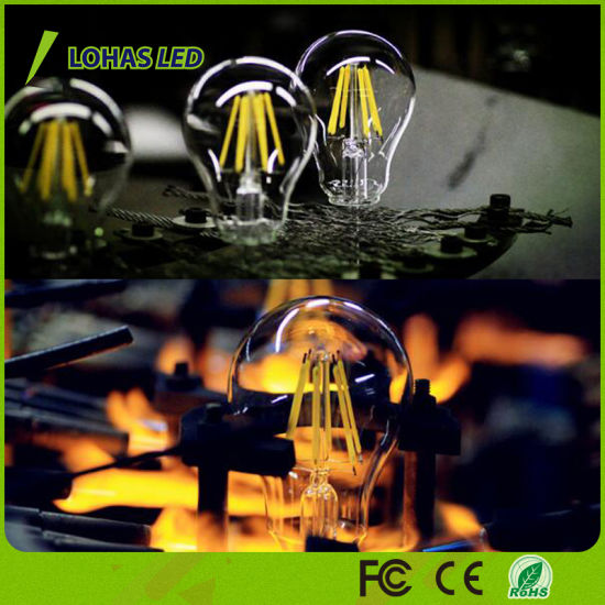 Dimming E27 B22 2W-8W Warm White Glass LED Light Bulb pictures & photos
