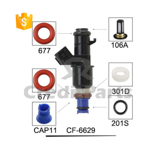 CF-6629 China Supplier Electric Fuel Injector Repair Service Kits for Car