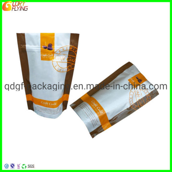 Biodegradable Bag Zipper Bag Coffee Food Packaging with Degassing Valve pictures & photos