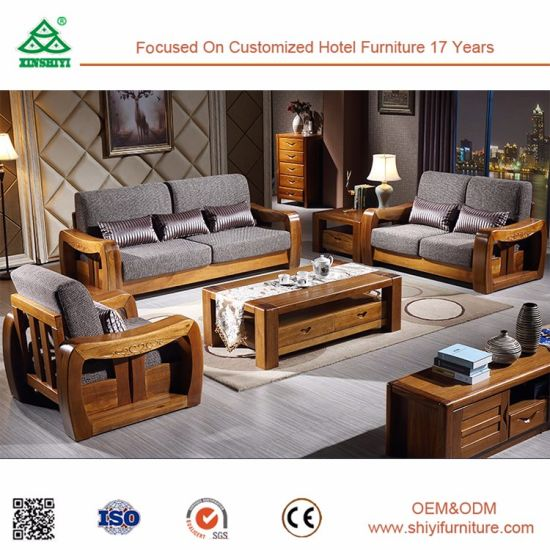 China Tea Table And Soft Cushion Wood Sofa China Wardrobe Hotel
