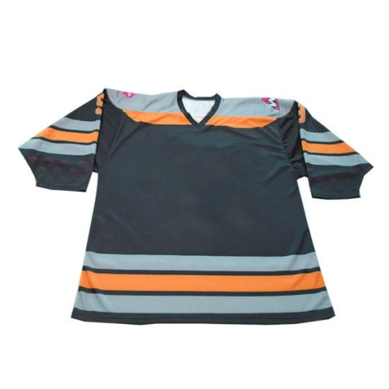 Free Artwork Embroidery Hockey Jersey Reversible Ice Hockey Jersey Custom Cut and Sew Hockey Jerseys