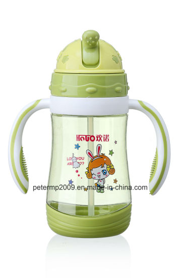 380ml Plastic Kids Water Bottle, Water Bottle with Straw, High Strength and Good Seal pictures & photos