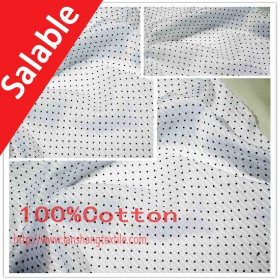 Dyed Jacquard Printing Cotton Fabric for Dress Shirt Children Garment.