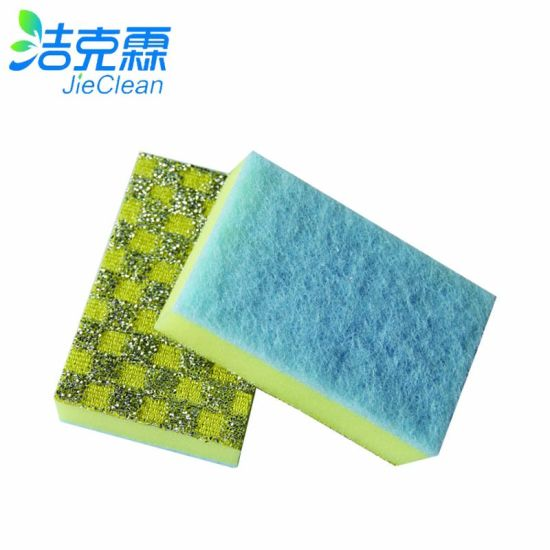 Kitchen Bathroom Office Cleaning Scouring Pad Foam Scourer pictures & photos