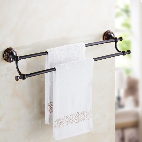 China Flg Double Towel Bars Bathroom Fitting Oil Rubbed Bronze