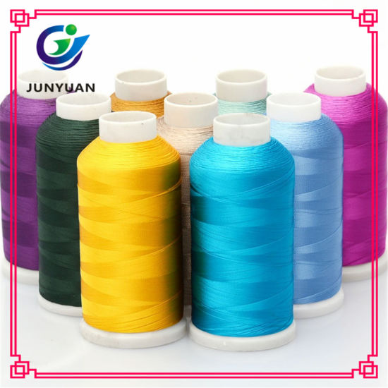 Factory Dyed Polyester Embroidery Thread 75D/2, 108d/2, 120d/2, 150d/2, 250d/2