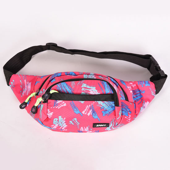 e10ff2531356 Full Print Women Waist Bag Waterproof Nylon High Quality Belt Bags Fanny  Pack Girls Sling Bags New Fashion Mobile Phone Pouch Sports Bag