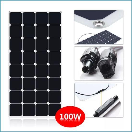 100W Sunpower ETFE Soft Flexible Bendable Solar Panel DC USB Mobile Power Solar Energy