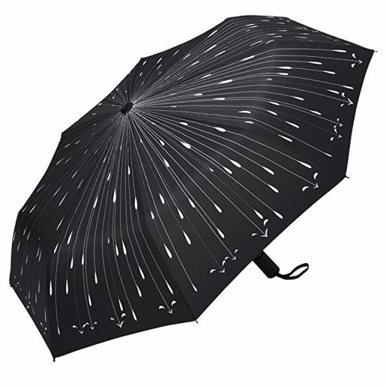 Travel Automatic Close and Open Compact Folding Windproof Print Umbrella