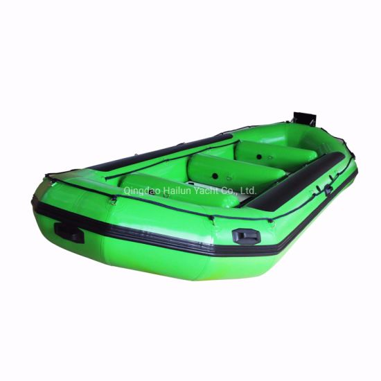 Inflatable Boat with Outboard Engine Fishing Boat Fold Boat