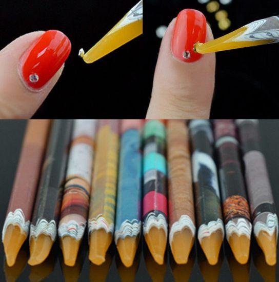 Nail Dotting Pen Stones Packing up Pencil Nail Art Tool pictures & photos