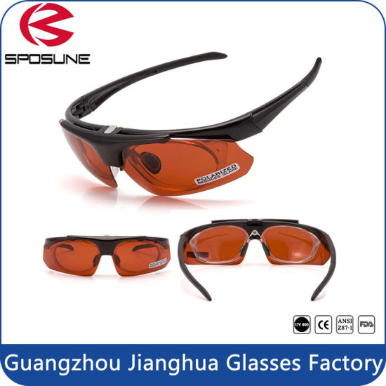 c8f40ce35a9 High Impact UV400 Prescription Flip up Sport Glasses with Rx Insert  pictures   photos