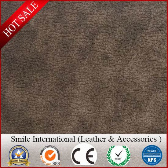 Red Double Color PVC Leather Popular Double Brush Backing Soft Quality for Hangbags Sofa pictures & photos