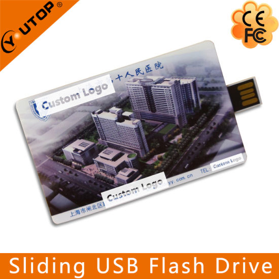 Colorful Printing Sliding Card USB Flash Pen Drive (YT-3115) pictures & photos