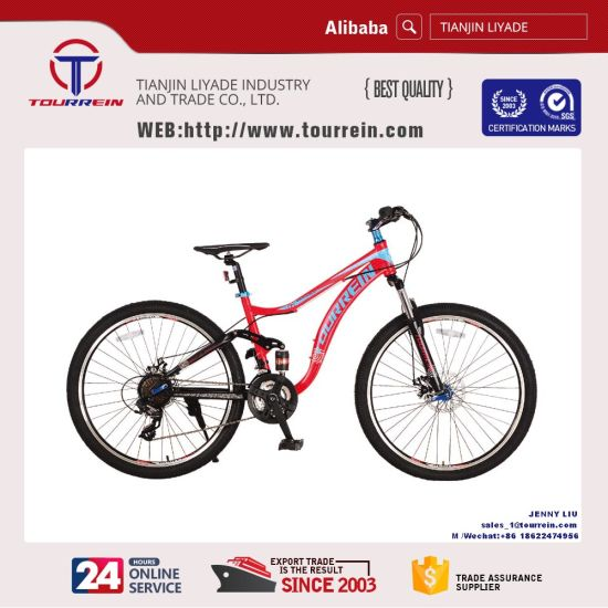 "26""Steel Duel Suspension Mountain Bike"
