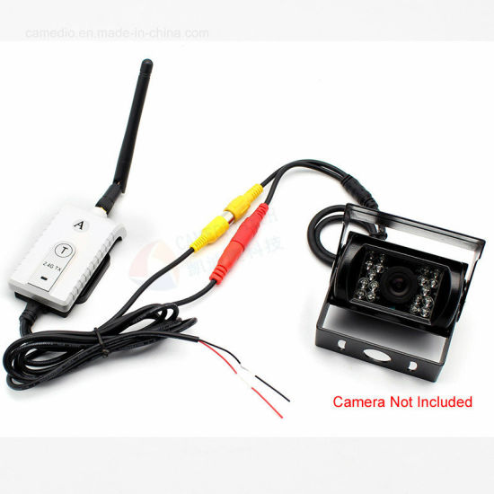 New 2in1 Transmitter+Receiver 2.4Ghz Wireless AV Cable Video for Vehicle monitor