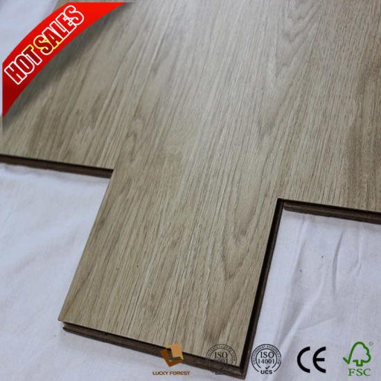 China 123mm Hand Scraped Blue Grey Laminate Wood Flooring China