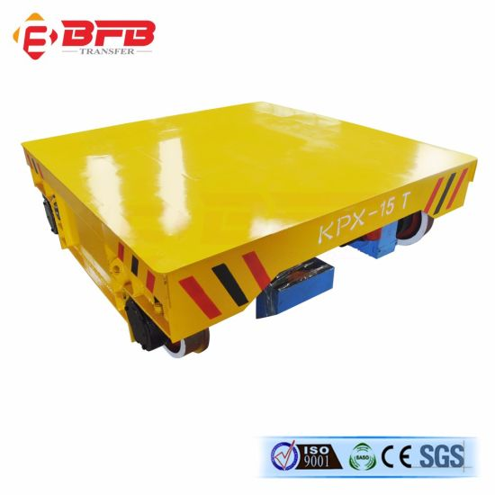 High Quality 50t Motorized Electric Transfer Cart for Cement Lined pictures & photos