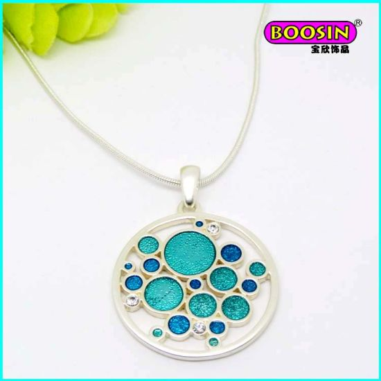 Fashion Silver Jewelry Enamel Heart Pendant Necklace pictures & photos