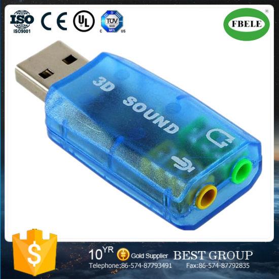 Transparent External USB Sound Card Free Drive USB5.1 Sound Card