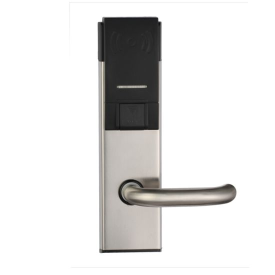 china smart intelligent security hotel door lock with card and key