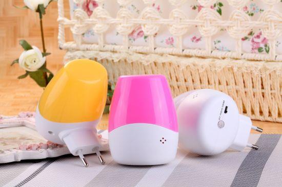 Intelligent Wall Plug Sound Twilight Sensor LED Night Lamp Light