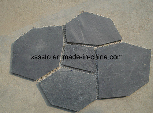 Natural Paving Stone Slate Tiles Cheap Flagstone for Flooring pictures & photos