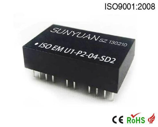 0-10V/0-5V/4-20mA Isolated Converter with Distribution Power (Zero/Gain Adj.)