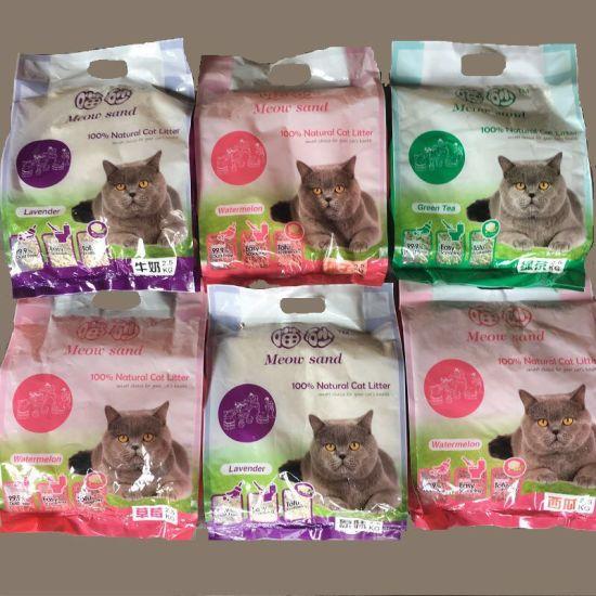 china wholesale colored clumping kitty sand green tea tofu cat