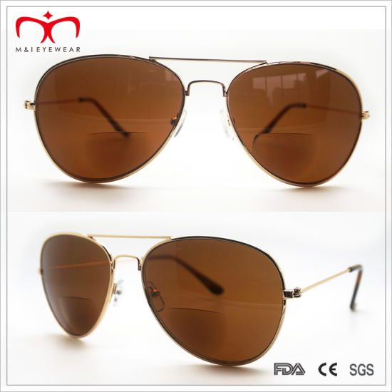 Classical and Hot Sales Bifocal Lens Metal Sunglasses (30037) pictures & photos
