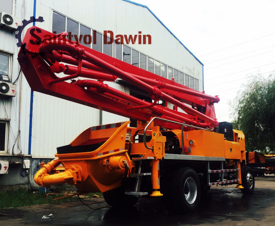 New Design Trailer Mobile Diesel Pump with 21m Placing Boom