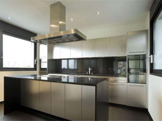 China Custom Kitchen Cabinets Stainless Steel Base Cabinets