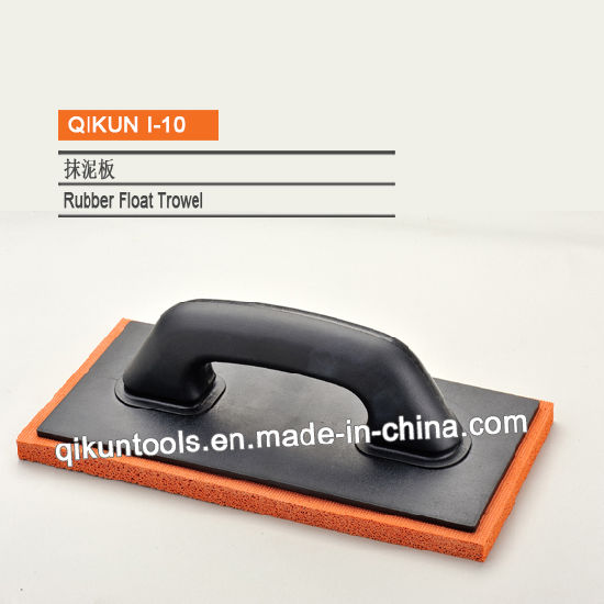 I-10 Construction Decoration Paint Hardware Hand Tools Black Rubber Float Trowel with Rubber Bottom pictures & photos
