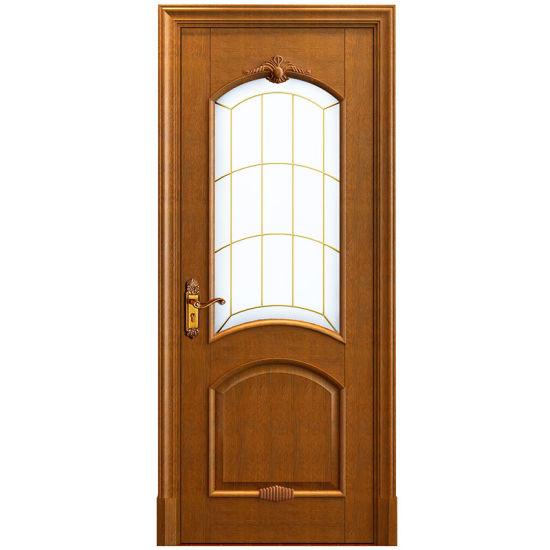 Solid Wood Interior Swing Gl Door