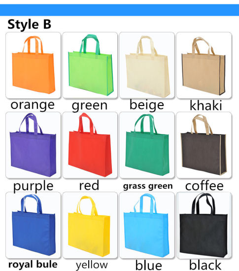 Shopping Nonwoven Bags Foldable Tote Eco-Friendly Reusable Shouder Bag with Handle Supermarket