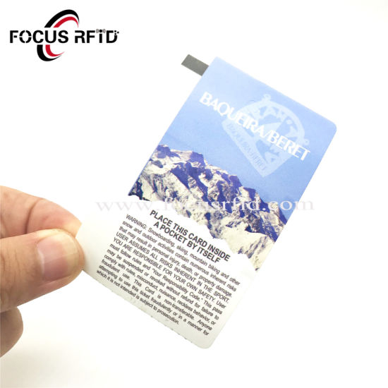 Customized Logo Printing One Time Use RFID Disposable Paper Smart Card for Ticket