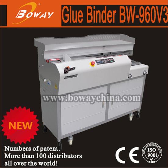 Boway 380mm B4 Paper Size Automatic Side Glue Binder Perfect Book Binding Machine