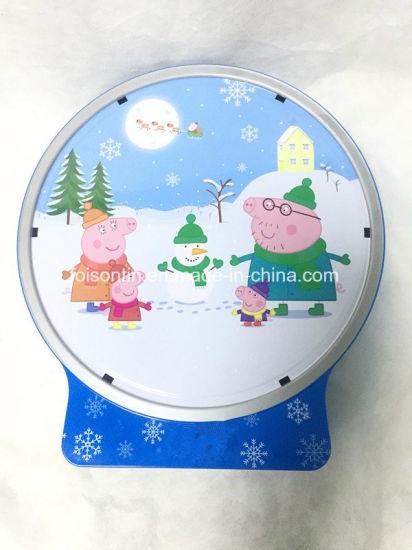 New Design Round Snow Can for Cookie Packaging pictures & photos