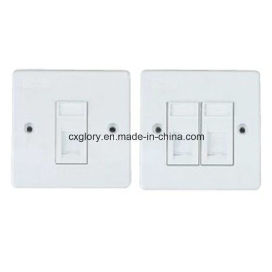 Single/Dual Port Clipsal Network Faceplate